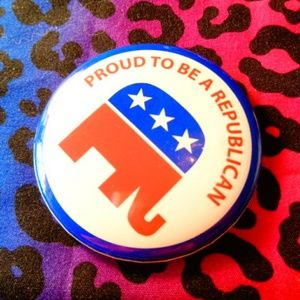 Proud to be Republican pin vintage button